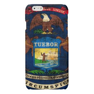 Grunge Michigan Flag Glossy iPhone 6 Case