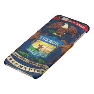 Grunge Michigan Flag Glossy iPhone 6 Plus Case