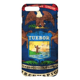 Grunge Michigan Flag iPhone 7 Plus Case