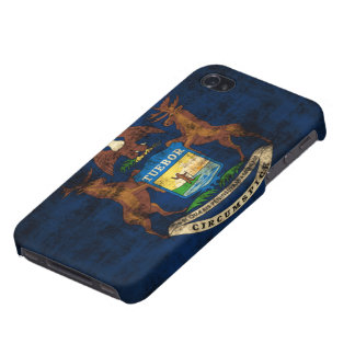Grunge Michigan Flag iPhone 4 Covers