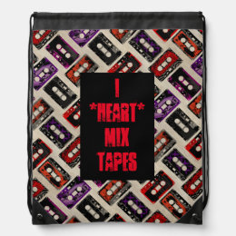Grunge Mix Tapes - Custom Text Backpack