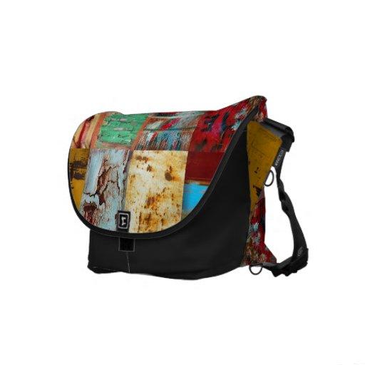 Grunge Mixed Black Rickshaw Messenger Bag Messenger Bag