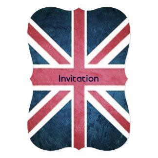 grunge modern London fashion UK British flag Card