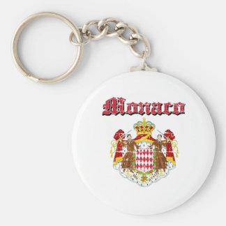 Grunge Monaco coat of arms designs Keychain