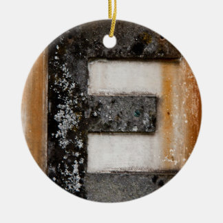 Grunge monogram E Ceramic Ornament