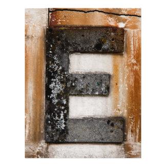 Grunge monogram E Flyer