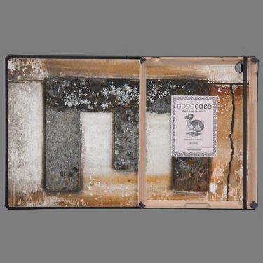 Grunge monogram E iPad Folio Cases