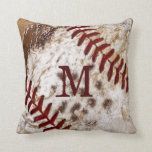 Grunge Monogrammed Dirty Baseball Pillow