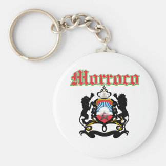 Grunge Morocco coat of arms designs Keychains
