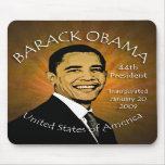 Grunge Mousepad de Barack Obama Inaugurtion Tapete De Ratón
