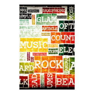 Grunge Music Background Stationery Paper
