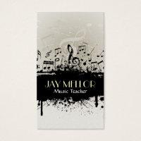 Grunge Music Business Card