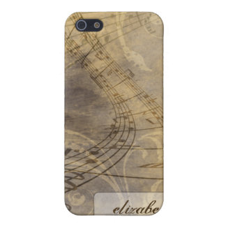 Grunge Music Notes iPhone 4/4s Case (gold)
