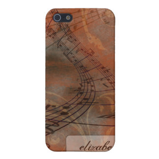 Grunge Music Notes iPhone 4/4s Case (orange)