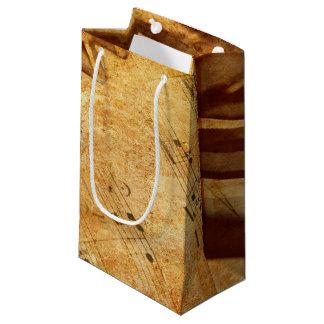 Grunge Music Sheet Piano Keys Small Gift Bag