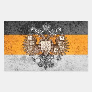 Grunge Nationalist Russia Flag Rectangular Sticker