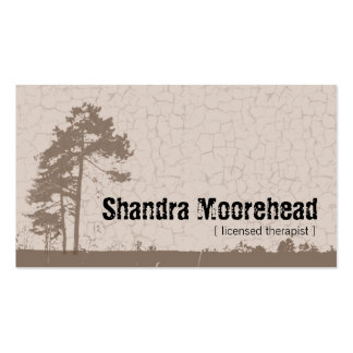Grunge Nature Therapist Business Card