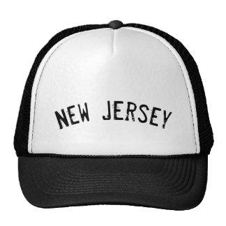 Grunge negro New Jersey Gorras