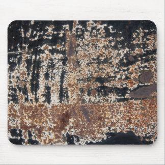 Grunge negro oxidado tapete de raton