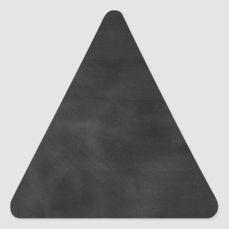 GRUNGE NEGRO T de la TEXTURA del TABLERO de TIZA Pegatina Triangular