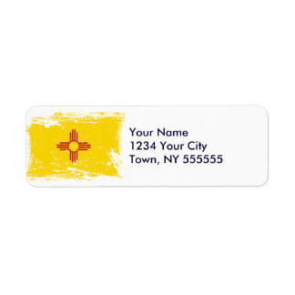Grunge New Mexico Flag Label