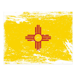 Grunge New Mexico Flag Post Cards