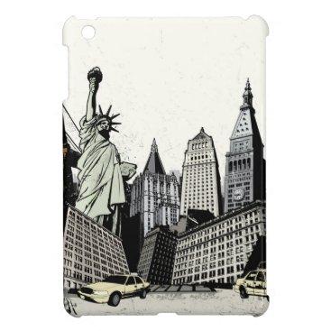Grunge New York Cityscape Case For The iPad Mini