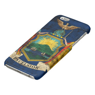 Grunge New York State Flag Glossy iPhone 6 Case