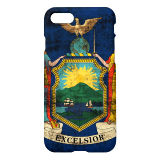 Grunge New York State Flag iPhone 7 Case
