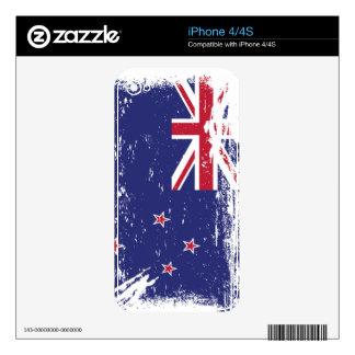 Grunge New Zealand Flag iPhone 4S Skin