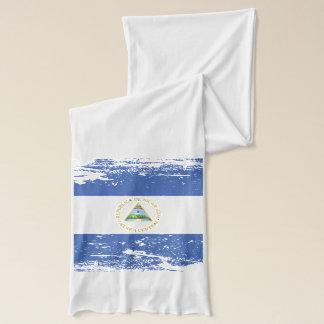 Grunge Nicaragua Flag Scarf
