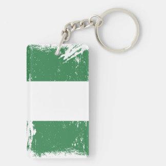 Grunge Nigeria Flag Keychains