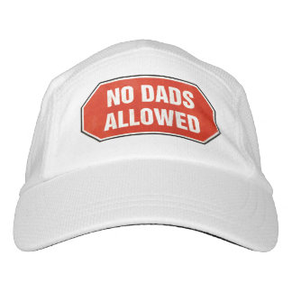 Grunge 'No Dads Allowed' sign Headsweats Hat