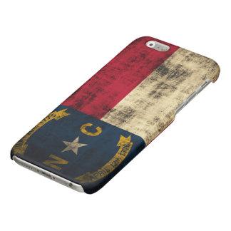 Grunge North Carolina Flag Glossy iPhone 6 Case