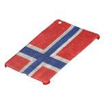 Grunge noruego de la bandera apenado iPad mini cárcasas
