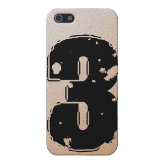 GRUNGE NUMBER 3 COVER FOR iPhone SE/5/5s