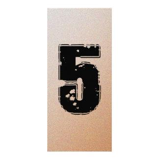 GRUNGE NUMBER 5 RACK CARD