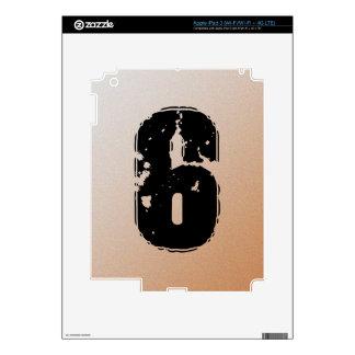 GRUNGE NUMBER 6 iPad 3 DECALS