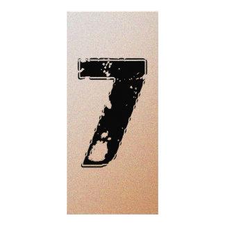 GRUNGE NUMBER 7 CUSTOMIZED RACK CARD