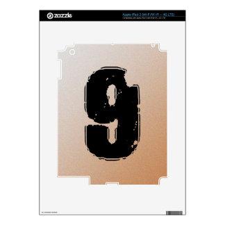 GRUNGE NUMBER 9 iPad 3 DECALS