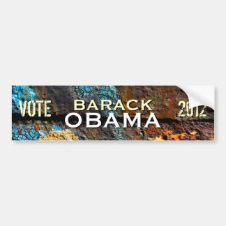 Grunge Obama 2012 Campaign Bumper Sticker Car Bumper Sticker