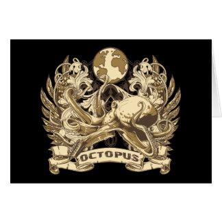 Grunge Octopus Card