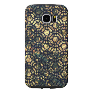 Grunge Oil and Water Olive Marbled Metallic Foil Samsung Galaxy S6 Cases