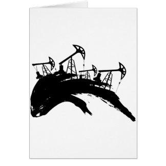 Grunge Oil Pump Card