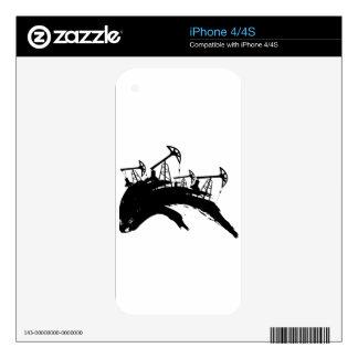 Grunge Oil Pump iPhone 4S Decals