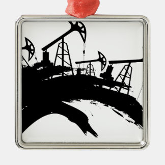 Grunge Oil Pump Metal Ornament