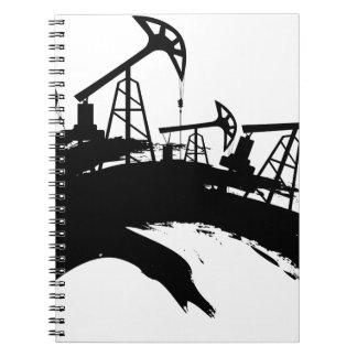Grunge Oil Pump Notebook