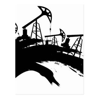 Grunge Oil Pump Postcard