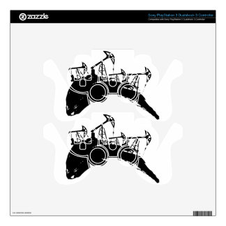 Grunge Oil Pump Skins For PS3 Controllers