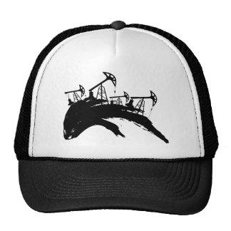 Grunge Oil Pump Trucker Hat
